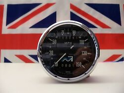 S36 - Genuine Smiths Speedometer Nvt Squiggle Face Type 4.8 Miles On Clock