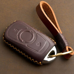 Leather Car Smart Key Remote Fob Case Cover Chain For Buick Enclave/encore Gx