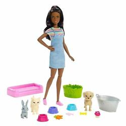 Barbie Play Nand039 Wash Pets Color Change Barbie Doll And Playset New