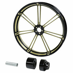 23and039and039 Gold Front Wheel Rim Hub Single Disc Fits For Harley Touring Glide 08-up