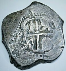 1699 Spanish Bolivia Silver 8 Reales Old 1600's Colonial Dollar Pirate Cob Coin