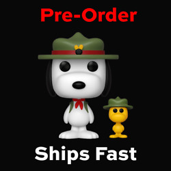 Funko Pop Beagle Scout Snoopy With Woodstock Funko Shop Exclusive PRE ORDER