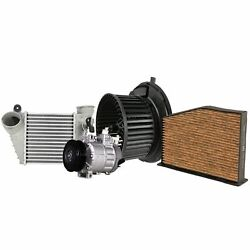 Valeo A/c Compressor Intercooler And Blower Motor And Cabin Air Filter Kit For Jetta