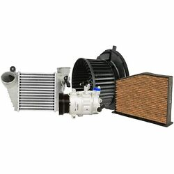 Valeo A/c Compressor Intercooler And Blower Motor And Cabin Air Filter Kit For Vw L5