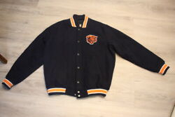 Chicago Bears Nfl Letterman Style Jacket Nfl Gill Apparel Adult Size Xl Coat