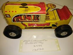 Vintage Marx Bulldozer Wind Up Tin Toy Lithograph In Good Condition Good Graphic