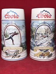 Coors Brewing Company Beer Steins - The Rocky Mountain Legend Series Set Of 2
