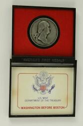 Us Mint Token Coin Americas First Medals Washington Before Boston 38mm Pewter B