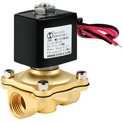 Brass Electric Solenoid Valve Dc 12v 1/2 Inch Npt N/c For Water Air Gas Fuel