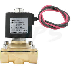 Electric Solenoid Valve Brass 3/8 Inch 12volt Dc For Air Water Gas Fuel Fkm