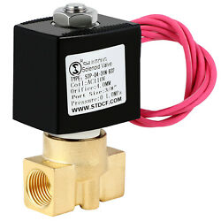 Brass Electric Solenoid Valve 3/8 Inch 110v Ac Npt Air Water Gas Fuel N/c