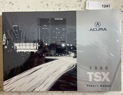 2005 Acura Tsx Owners Manual Operators User Guide Book