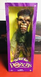 Universal Monsters - Rare The Wolf Man 24 Figure Sideshow Toys Pozer 2001