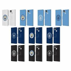 Manchester City Man City Fc Badge Leather Book Case For Asus Zenfone Phones