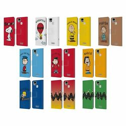 Official Peanuts Characters Leather Book Wallet Case For Asus Zenfone Phones