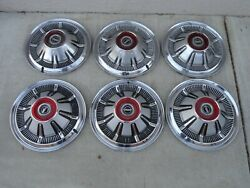 6 Oem Factory Ford Galaxie Bronco Truck Pick Up Hubcaps Wheel Covers 15 Set