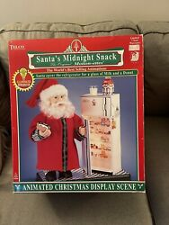 Telco Motionette 17 Inch Santaand039s Midnight Snack ..christmas..animated.. New Box