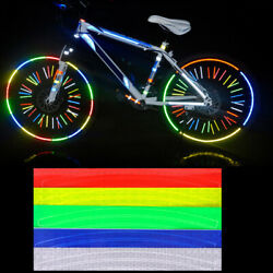 2 Sheets Wheel Reflective Stickers Wheels Rim Trim Tape Strips For Bike Bicycle