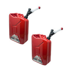 Garage Boss 5 Gallon Press N Pour Metal Jerry Gas Can Fuel Container 2 Pack