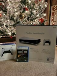 Sony Ps5 Blu-ray Edition Console Bundle - White Playstation 5 , 825 Gb