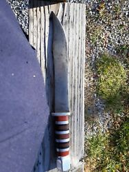 Ww2 Us Military Theatre Made Combat Fighting Trench Bowie Knife 15-9 1/2 Blade