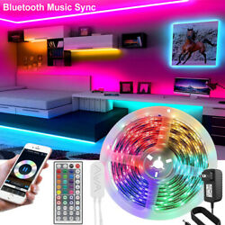 50FT Led Strip Lights 5050 RGB Bluetooth Room Lights Color Changing with Remote $22.67