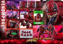Hottoys Venom Deadpool Vgm35 Game Edition Limited Action Figure Model In Stock