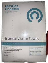 New Lets Get Checked Essential Vitamin Testing Sample Collection Kit