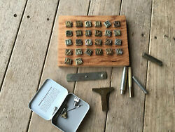 Vintage Western Leather Tooling Letters 1/2
