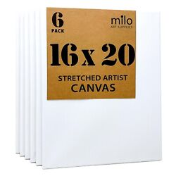 milo Stretched Artist Canvas 16x20 inches Value Pack of 6 $29.90