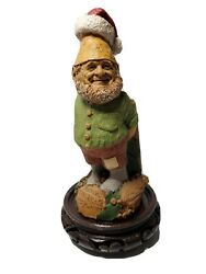 Tom Clark Tim Wolfe Gnomes Father Christmas Signed 1999 Collectible With Stand