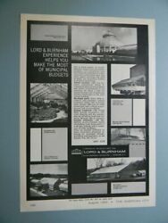 1965 Lord And Burnham ...helps You Make The Most Of Municipal Budgets Sales Art Ad
