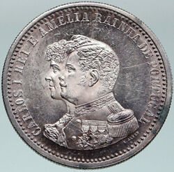 1898 Portugal Cross Discovery Of India 400yr Genuine Silver 500 Reis Coin I87547