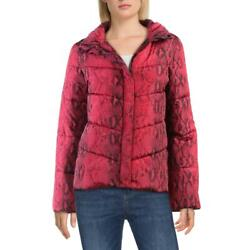 Betsey Johnson Betseys Best Quilted Funnel Neck Winter Puffer Coat