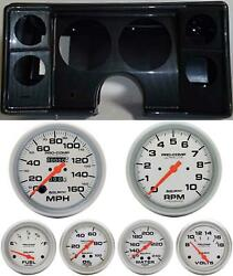 82-88 Chevy G Body Carbon Dash Carrier Auto Meter Ultra Lite Mechanical Gauges