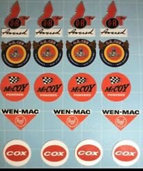 19 Vintage Waterslides For Cox, Mccoy, Ok Cub, And Ohlsson Rice