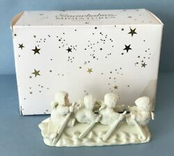 Snowbabies Pull Together' 1999 Dept 56 Set Of 3 Items Handpainted Pewter Minis