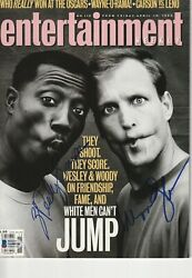 Wesley Snipes And Woody Harrelson Signed Magazine W/ Beckett Loa No Label