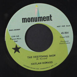 Harlan Howard The Deepening Snow / Hobo Jungle Monument 7 Single 45 Rpm