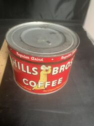 Hills Brothers Coffee Regular Grind 1 Pound Advertising Tin