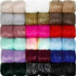 Willbond 36 Pieces Faux Fox Fur Pom Balls With Rubber Band Fluffy Knitting For
