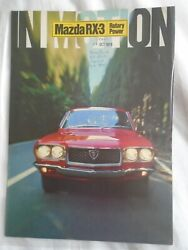 Mazda Rx3 Brochure 1972 French Text