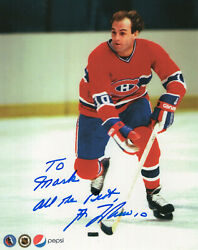 Guy Lafleur Autographed 8x10 Color Photo Montreal Canadiens  Signed To Mark