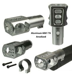 Silver Tactical Mossberg 500 12 Ga Clamp On Muzzle Brake Reduce Recoil -aluminum