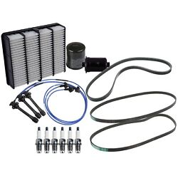 🔥oil Air Fuel Filters Spark Plugs W/ Wire Serpentine Belts Kit 4runner Tacoma🔥