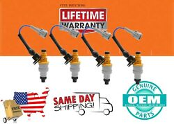 X 4 440cc Genuine Bosch Toyota Mr2 Supercharged 4agze Fuel Injectors 1988-1989