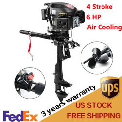 4 Stroke 6.0hp Outboard Motor Fishing Boat Engine W/ Air Cooling System Hangkai