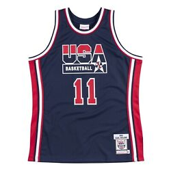 Usa Basketball Karl Malone 11 Mitchell And Ness 1992 Dream Team Authentic Jersey