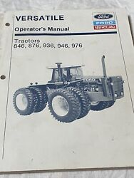 Ford New Holland Versatile Operators Manual Tractors 846 876 936 946 976 Used