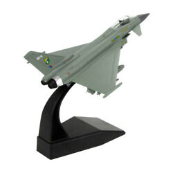 1100 Typhoon Fighter Model Alloy Aircraft Model Simulation Military Ornaments